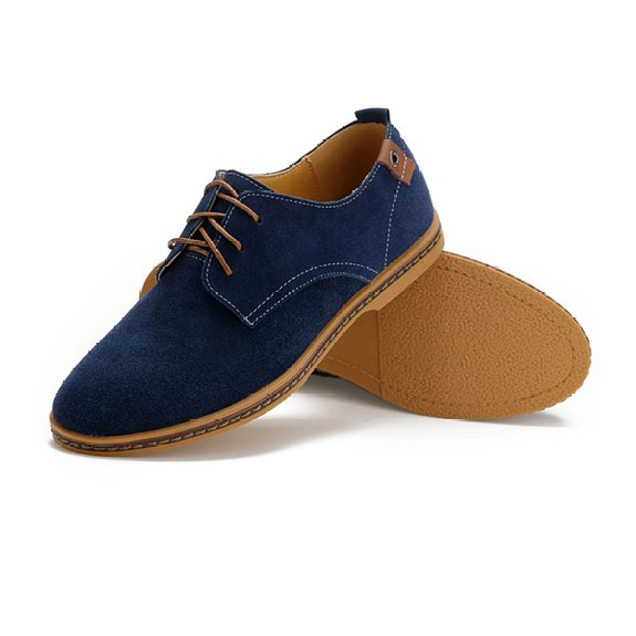 blue suede with blue chinos