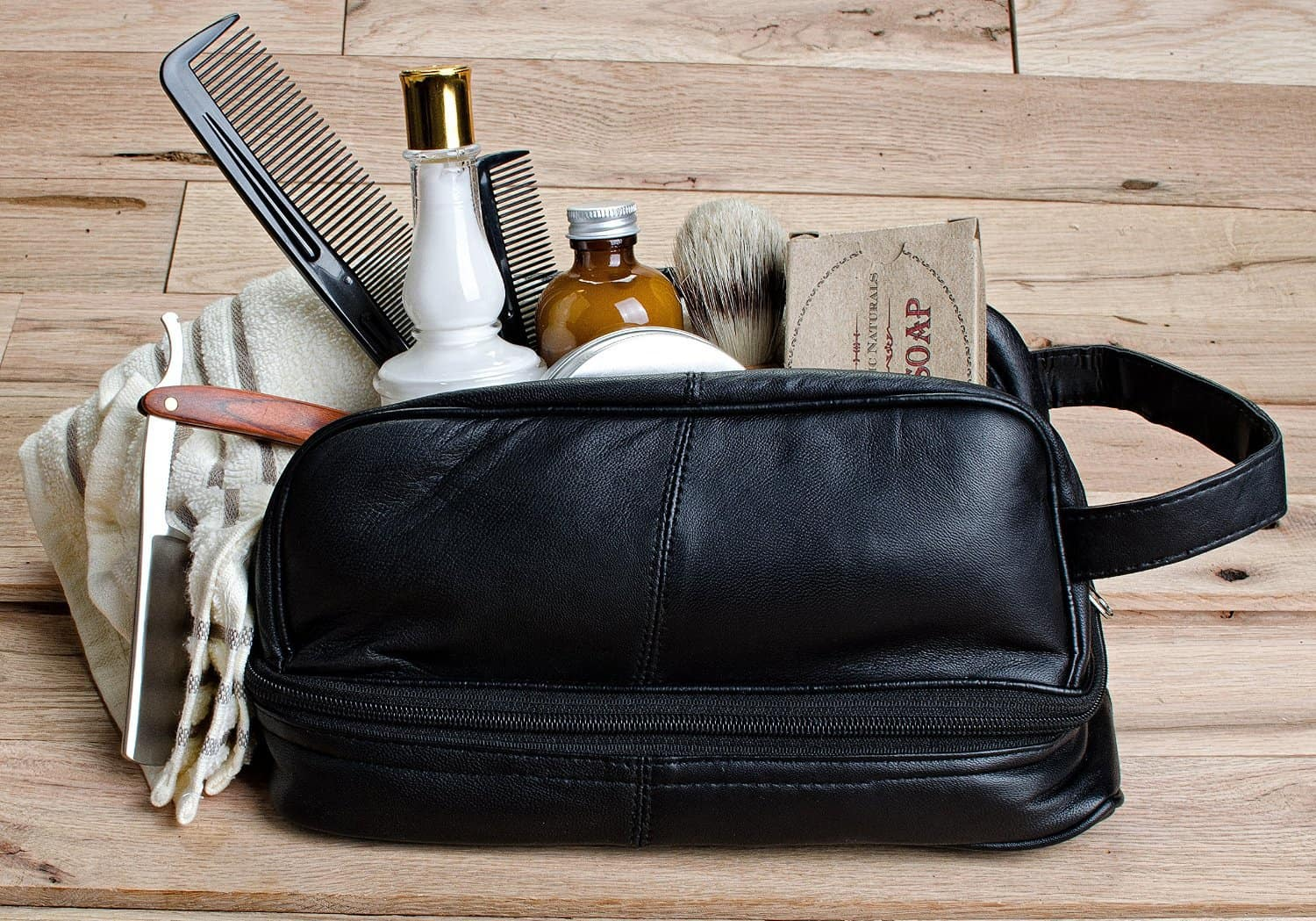 Three Great Ideas For The Perfect Men S Toiletry Bag Travel Shaving Kits Classic Leather Or Hanging Toiletry Bags