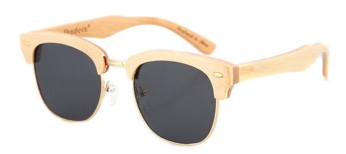 vintage sunglasses wooden